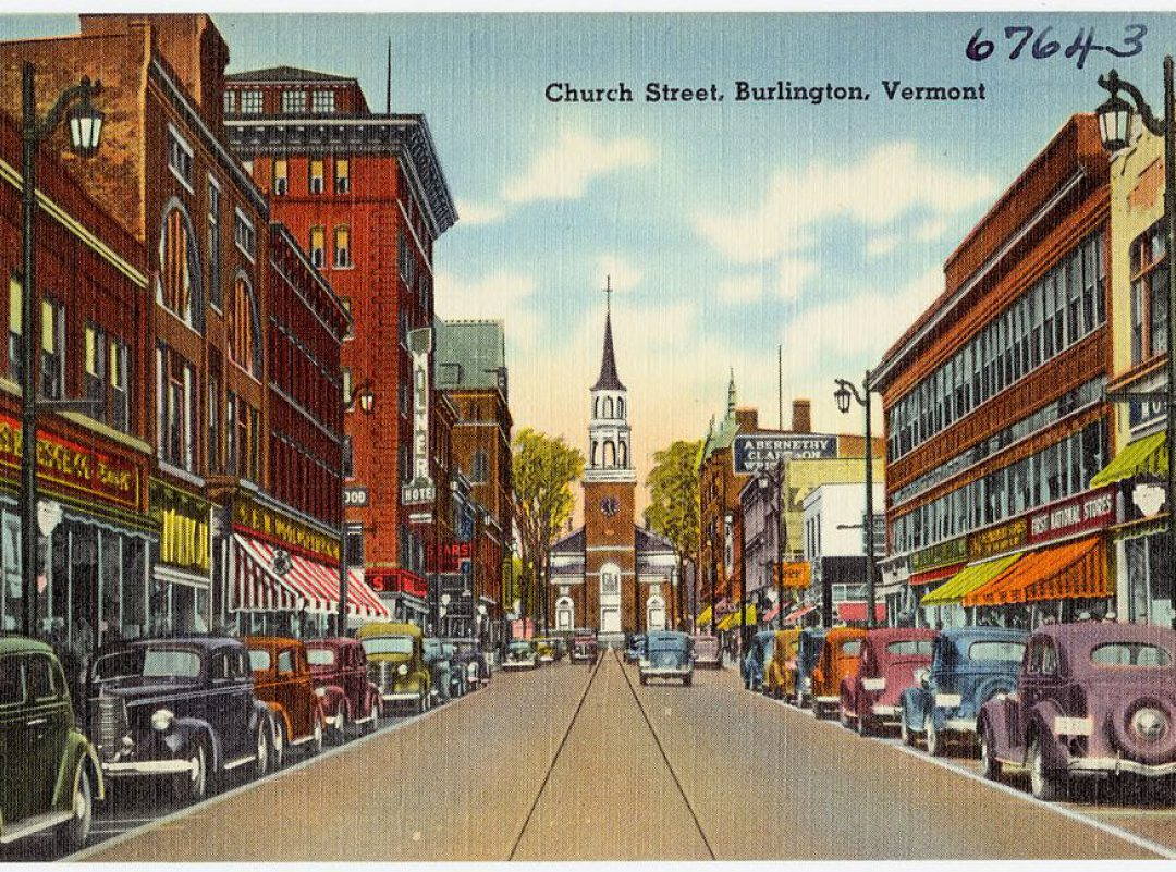 Old post card image of Church Street