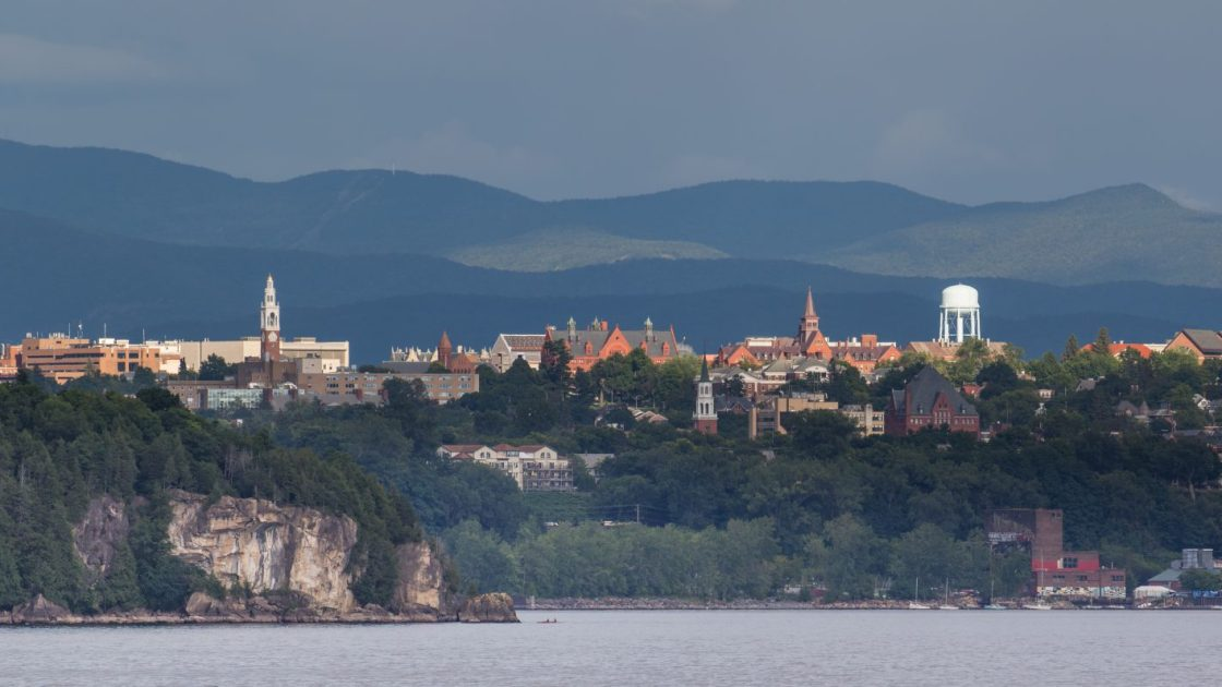 View of Burlington from the lake
