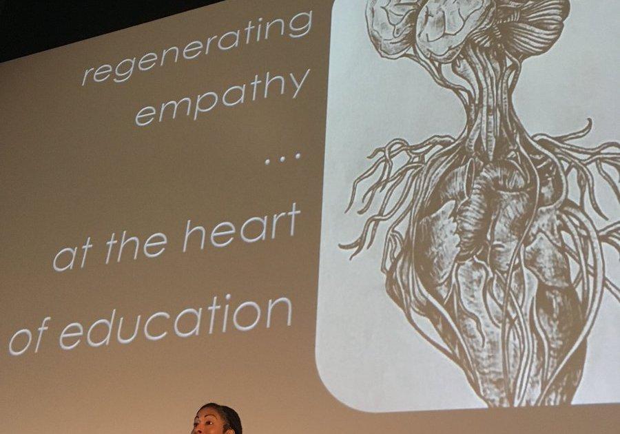 Ruha Benjamin delivering keynote at the 2017 Rowland Conference