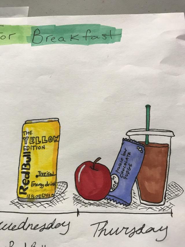 Hand drawn illustrations of food